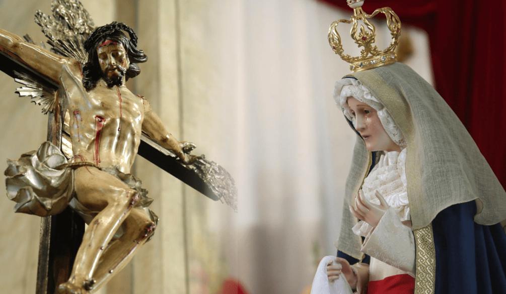 sua-cruz-e-pesada - Nossa Senhora das Graças